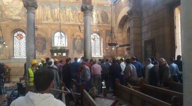 Πολύνεκρη βομβιστική επίθεση στη Μητρόπολη των Κοπτών στο Κάιρο Φωτο & Βίντεο Προσοχή σκληρές εικόνες