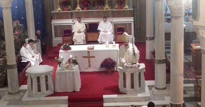 Η αγρύπνια των Χριστουγέννων στον Καθεδρικό Ναό Αγίου Γεωργίου