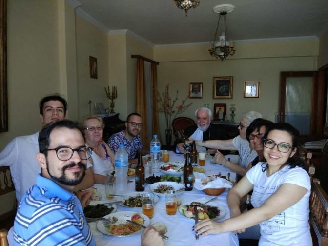 Επίσκεψη στη Τήνο αντιπροσωπίας caritas cuneo (Piemonte, Italia)