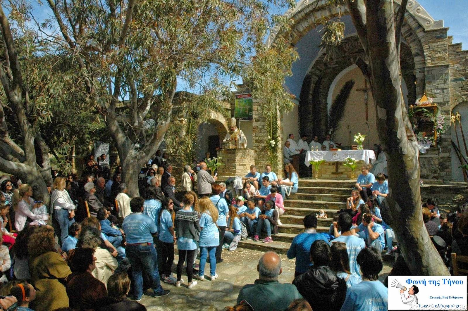 Πανηγυρικός εορτασμός κοίμησης και μετάστασης της Θεοτόκου στο Βρυσή της Τήνου