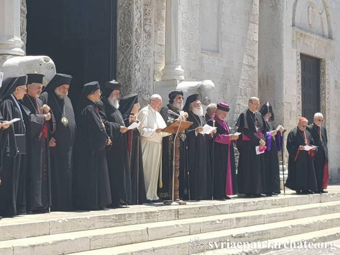 Ημέρα Προσευχής για τη Μέση Ανατολή στο Μπάρι – Μαζί Πάπας και Οικουμενικός Πατριάρχης ( Φωτογραφίες)